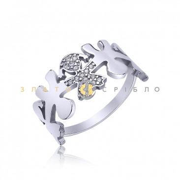 Серебряное кольцо «Доченька»