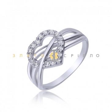 Серебряное кольцо «Признание в любви»