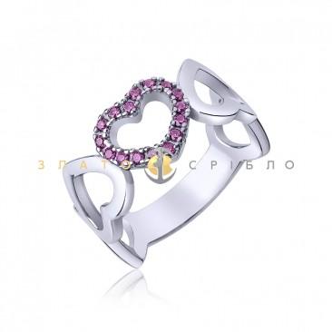 Серебряное кольцо «Вечная любовь»