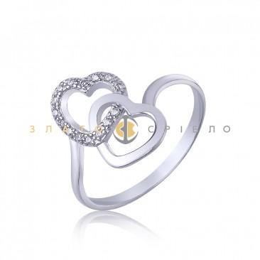 Серебряное кольцо «Вместе навсегда»
