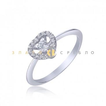 Серебряное кольцо «Романтик»