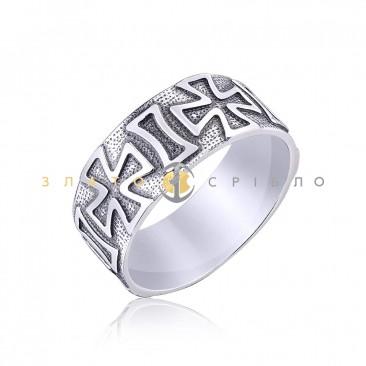 """Серебряное кольцо """"Мальтийский крест"""""""