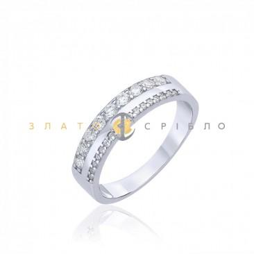 Серебряное кольцо «Впечатление» с фианитами