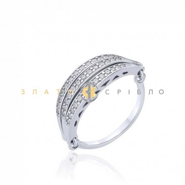 Серебряное кольцо «Вдохновение» с фианитами
