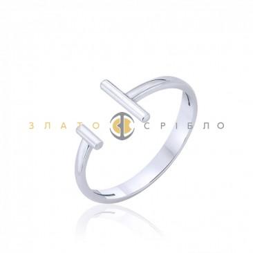 Серебряное кольцо «Паралелли» без вставок