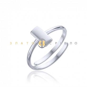 Серебряное кольцо «Плато» без вставок
