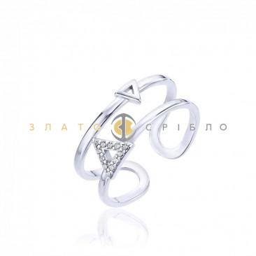 Серебряное кольцо «Космическая загадка» с фианитами