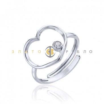 Серебряное кольцо «Чувственность» с фианитом