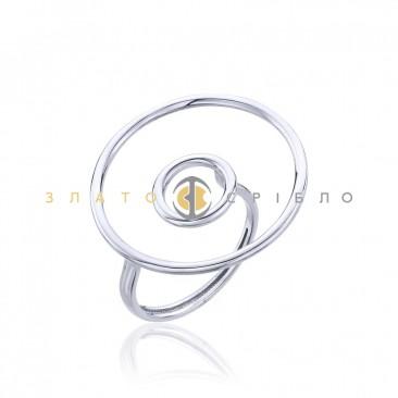 Серебряное кольцо «Нежная геометрия»