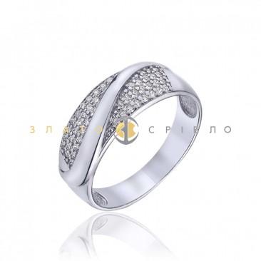 Серебряное кольцо «Особенная» с фианитами