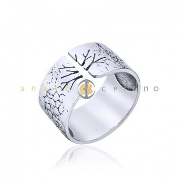 Серебряное кольцо «Дерево» без вставок