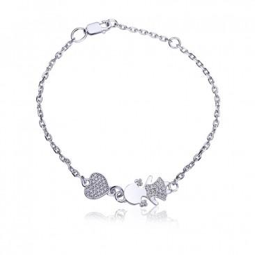 Серебряный браслет «Моя любимая малышка»