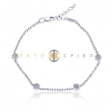 Серебряный браслет «Солнечные блики»