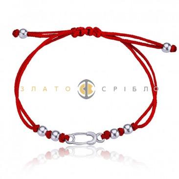 Детский серебряный браслет «Булавочка»