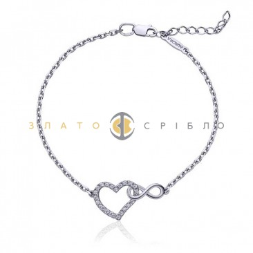 Серебряный браслет «Тайна любви»