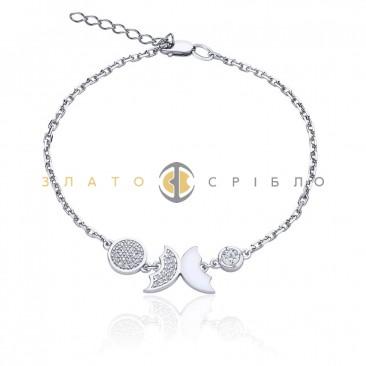 Серебряный браслет «Изящный мотылек»