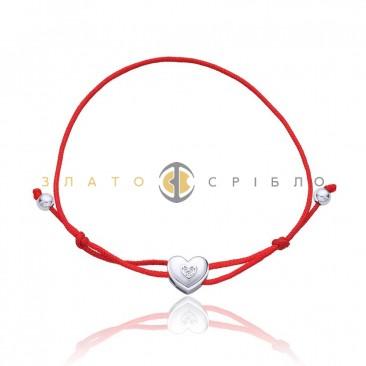 Серебряный браслет «Талисман любви»