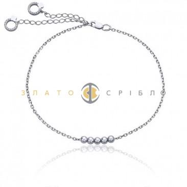 Серебряный браслет «Морская симфония» на ногу