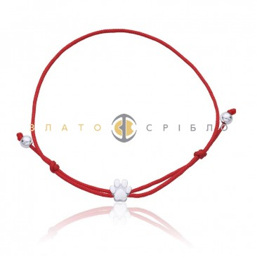 Серебряный браслет «Лапка»
