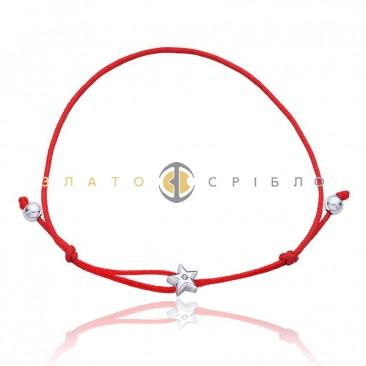 Серебряный браслет «Звезда мини»