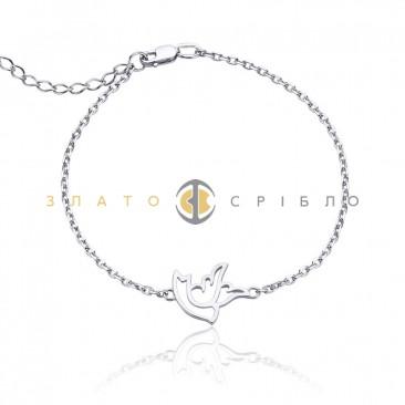 Серебряный браслет «Голубь»