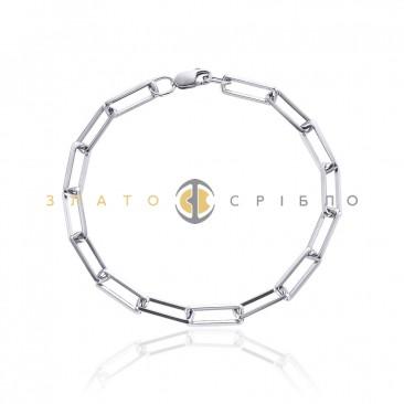 Серебряный браслет «Городской стиль» без вставок