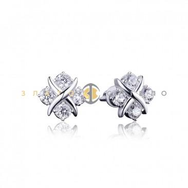 Серебряные пуссеты «Божена»