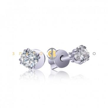 Серебряные пуссеты «Ярче звезд»