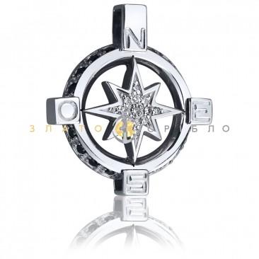 Срібний підвіс «Компас»