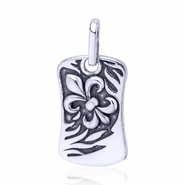 Серебряная подвеска «Fleur de lys»