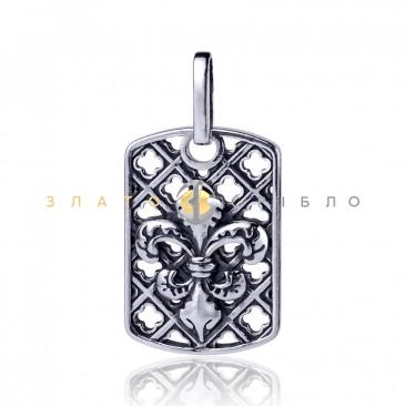 Серебряная подвеска «Французская лилия»