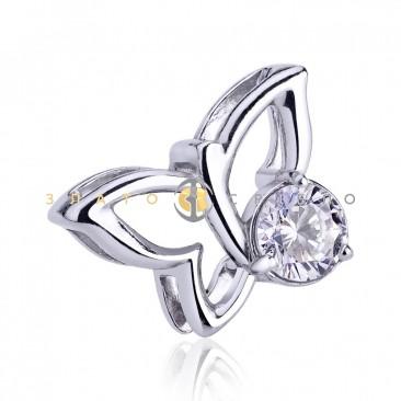 Серебряный подвес  «Романтичная бабочка»