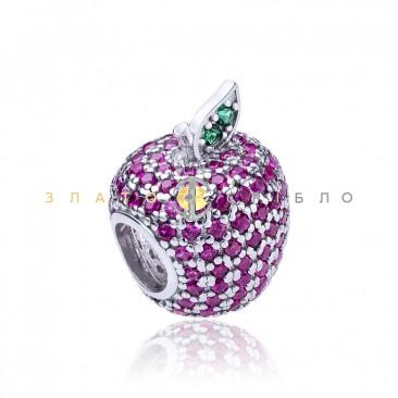 Серебряный шарм «Райское яблоко»