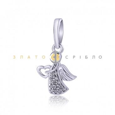 Серебряный подвес «Сердце ангела»