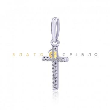 Серебряный крест «Единство» с фианитами