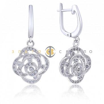 Срібні сережки «Богемія»