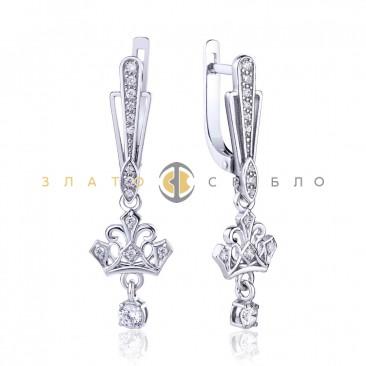 Серебряные серьги «Королевское сияние»