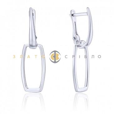 Серебряные серьги «Simple» без вставок