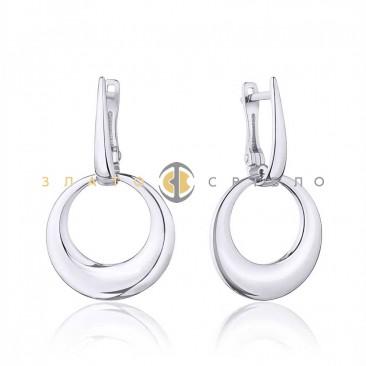 Серебряные серьги «Mirror» без вставок