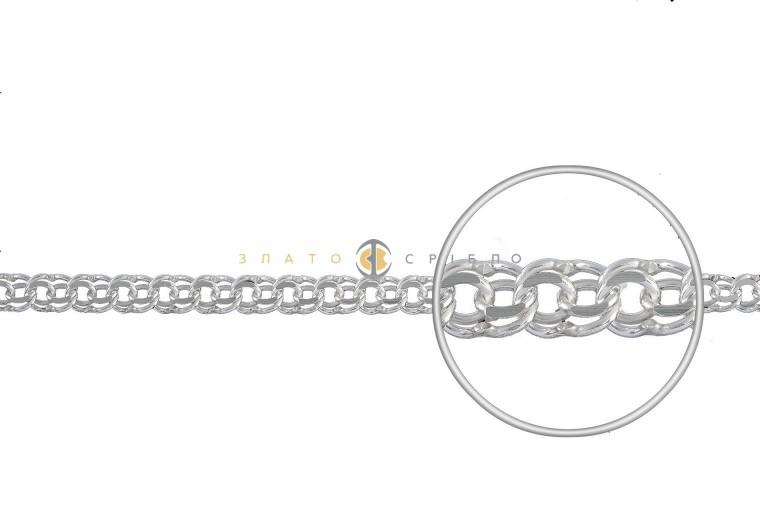 Серебряная цепочка ручной работы «Плоский бисмарк»