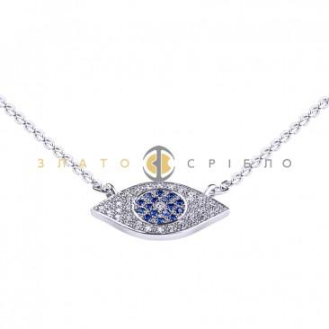 Серебряное колье «Всевидящее око»