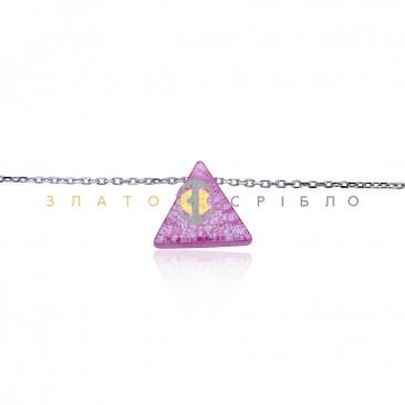 Серебряное колье «Мистический треугольник»