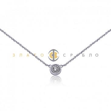Серебряное колье «Лунная ночь» с фианитами