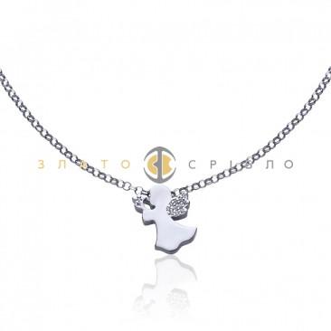 Серебряное колье «Свидание с ангелом»
