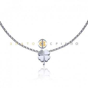 Серебряное колье «Магический клевер»