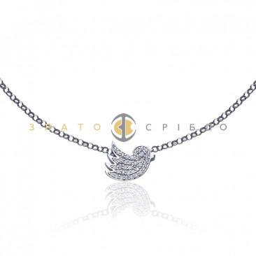 Серебряное колье «Птица счастья»