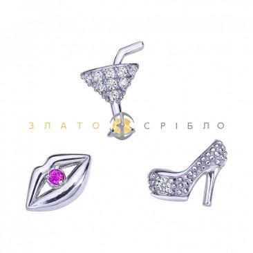 Серебряные шармы-миниатюры «Флирт»