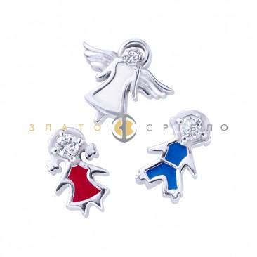 Серебряные шармы-миниатюры «Всегда рядом»