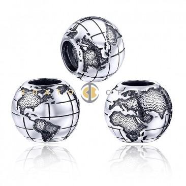 Серебряный шарм «Глобус»