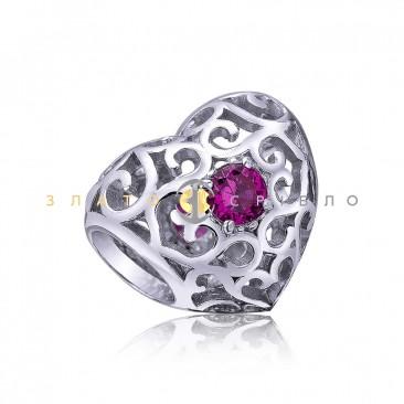 Серебряный шарм «В ритме сердца»